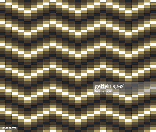 block wave illustration: rectangle shapes in grid pattern - melissa fague stock illustrations