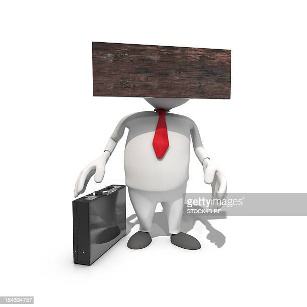 blockheaded anthropomorphic businessmen, cgi - obscured face stock illustrations, clip art, cartoons, & icons