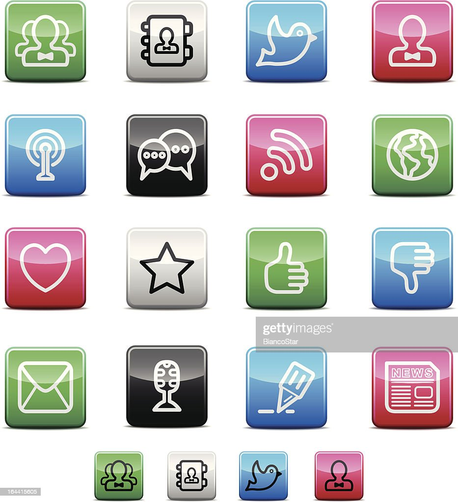 Blog and Social Media Icons | Shinyco Series
