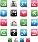 Blog and Social Media Icons | Shinyco Series