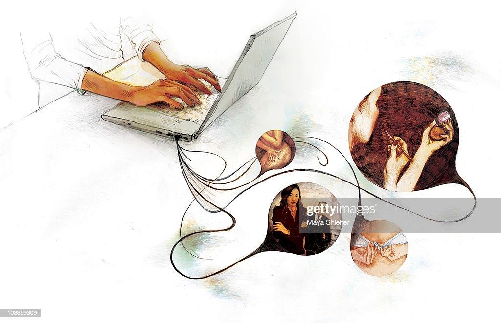 blogging : stock illustration