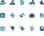 Blogging + Internet icons / cobalt series