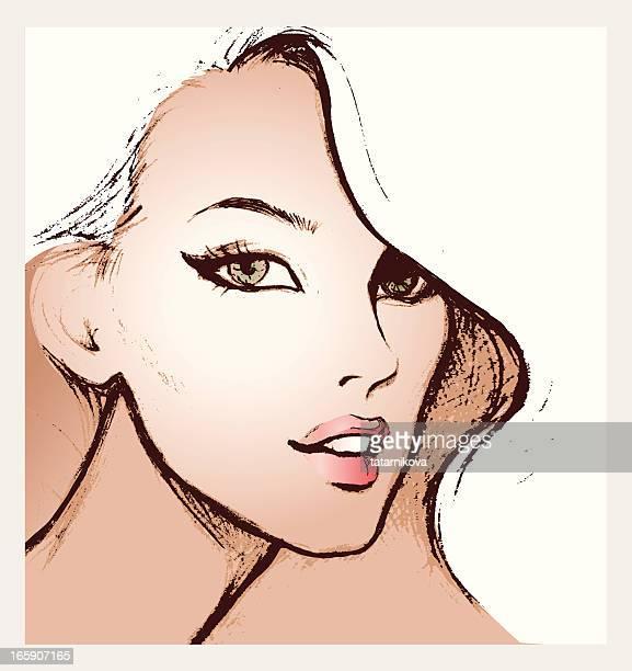 blond - beautiful woman stock illustrations