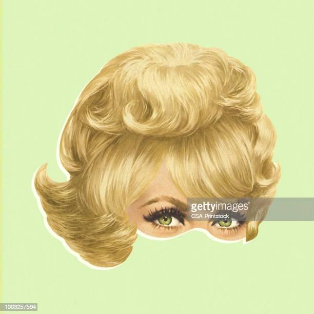 ilustrações de stock, clip art, desenhos animados e ícones de blond wig - loira