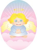 Blonde Angel on Puffy Clouds