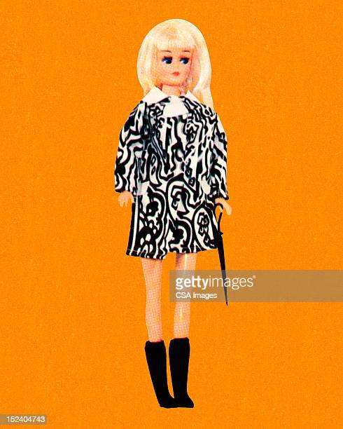 ファッションを着て、ブロンドの人形ミニスカート - 人形点のイラスト素材/クリップアート素材/マンガ素材/アイコン素材