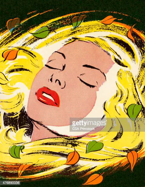 Blonde Woman With Her Eyes Closed