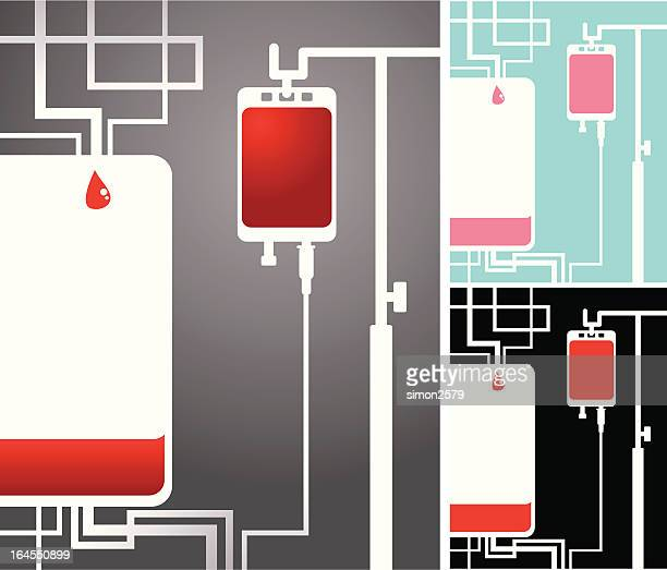 blood donation abstract - blood bank stock illustrations