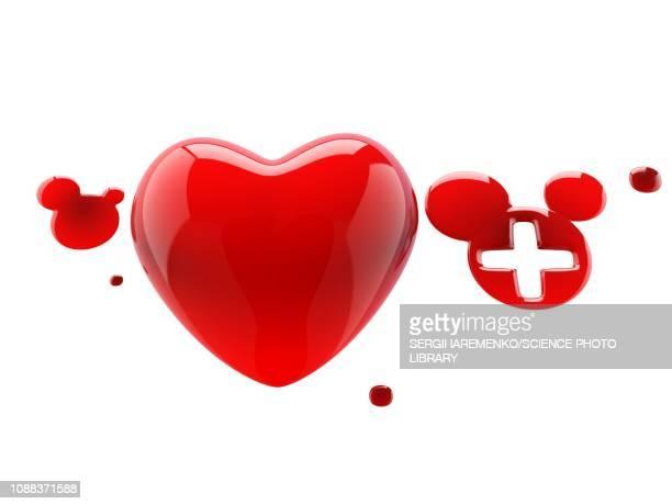 Blood donation, conceptual illustration