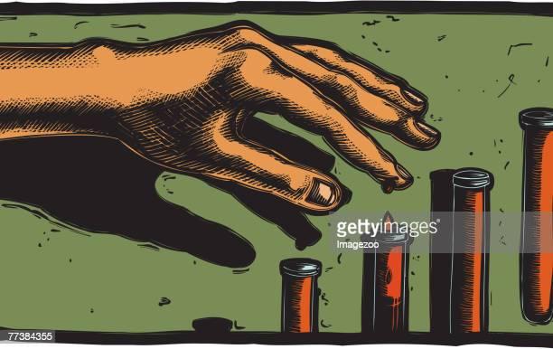blood donation - hepatitis stock illustrations