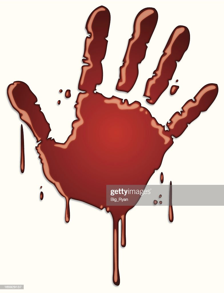 Bloody Handprint stock illustration - Getty Images