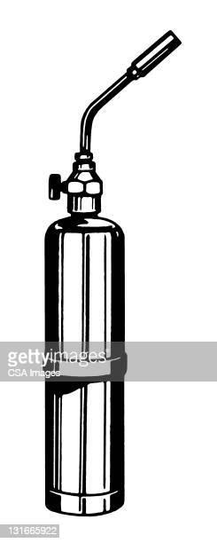 ilustraciones, imágenes clip art, dibujos animados e iconos de stock de blowtorch - soldar