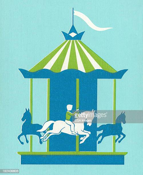 Blue and Green Merry-go-Round