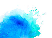 Blue and green watercolor background