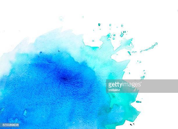 Sfondo ad acquerello blu e verde