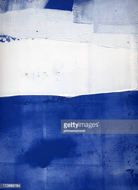 blue and white abstract - monoprint stock illustrations