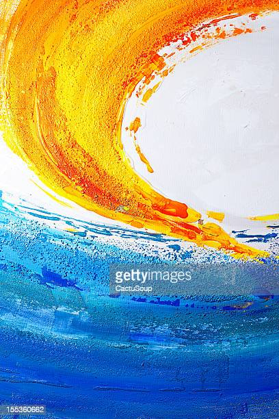 Blue and yellow paint