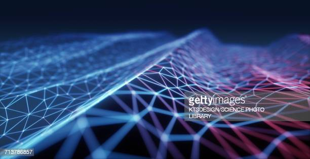 blue connecting lines - technology stock illustrations