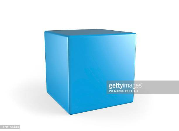 Blue cube, artwork