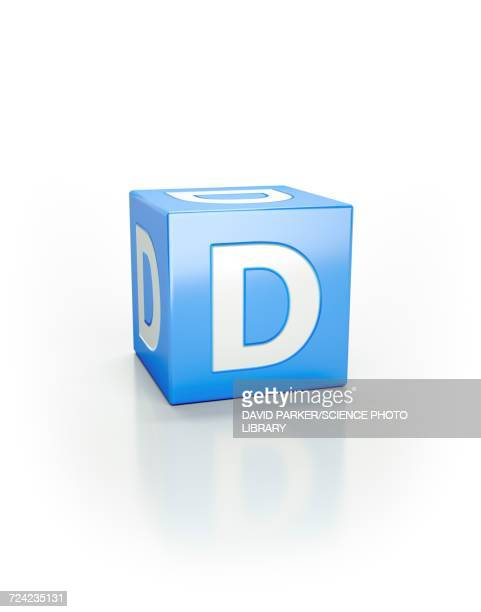 blue cube, d - letter d stock illustrations, clip art, cartoons, & icons