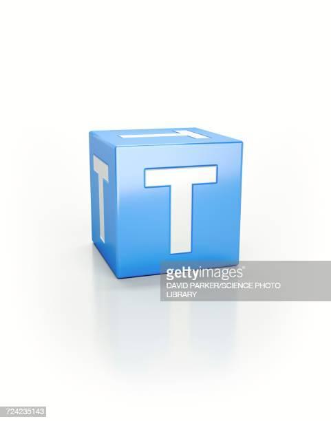illustrations, cliparts, dessins animés et icônes de blue cube, t - ��t��