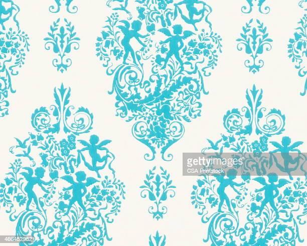 Azul Cupido patrón