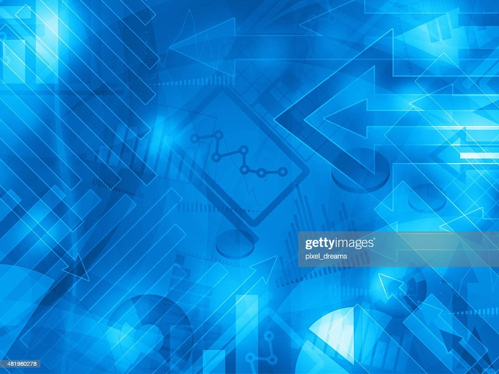 Blue Data Corporate Abstract Financial Background Stock Illustration