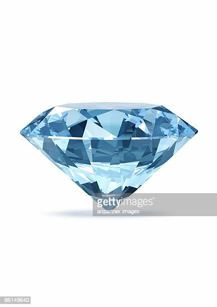 blue diamond, jewel or gemstone - stone object stock illustrations