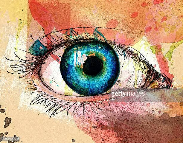 blue eye - close up stock illustrations