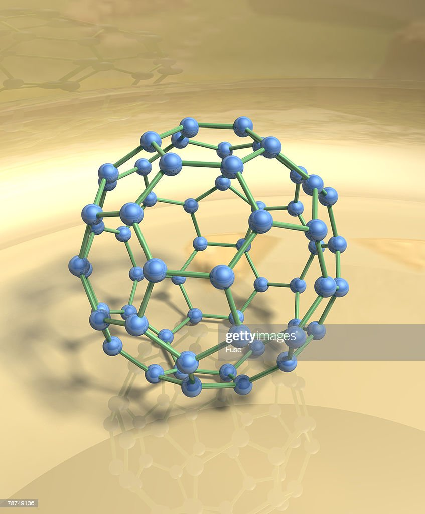 Blue Fullerene or Buckyball : Illustrationer