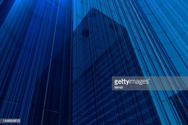 blue glass building - transparent stock illustrations
