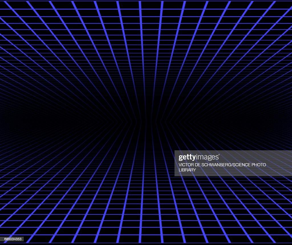 Blue grid against black background : stock illustration