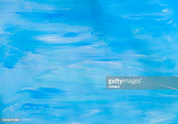 blue hand painted background - stellalevi stock illustrations