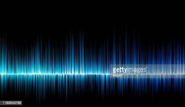 stockillustraties, clipart, cartoons en iconen met blue music sound design - oscilloscoop