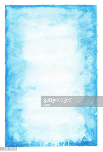 Blue paint on aged paper background or pattern
