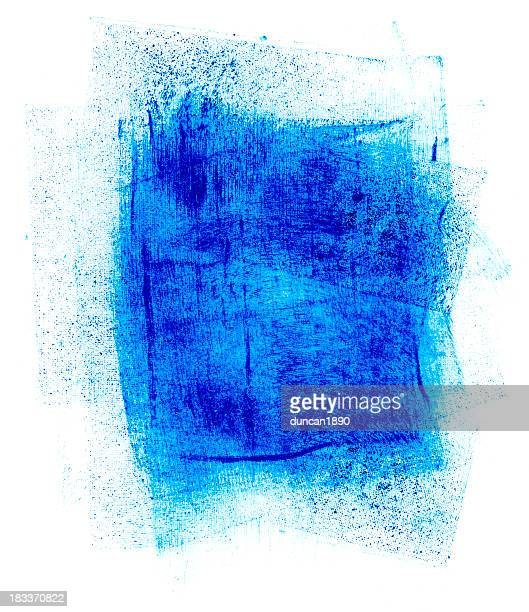 blue paint smudge - pen and ink stock illustrations