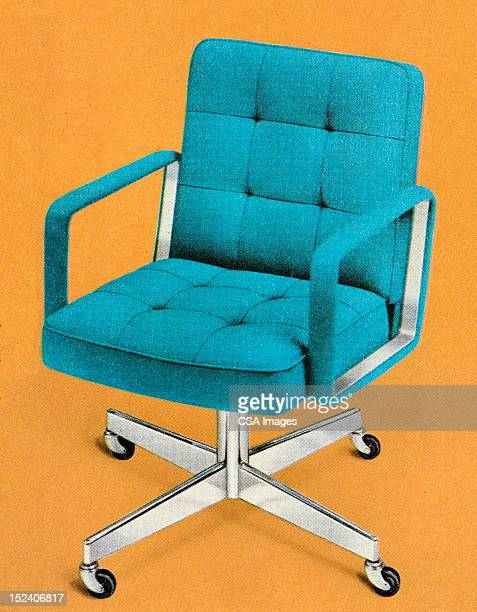 Blue Vintage Office Chair