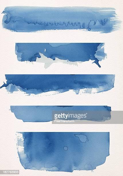 Banners em Aquarela azul