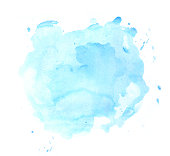 Blue watercolor spot