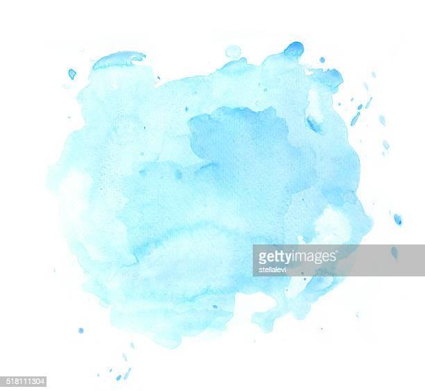 Ponto azul aguarela