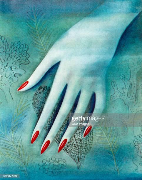 Blue Woman's Hand