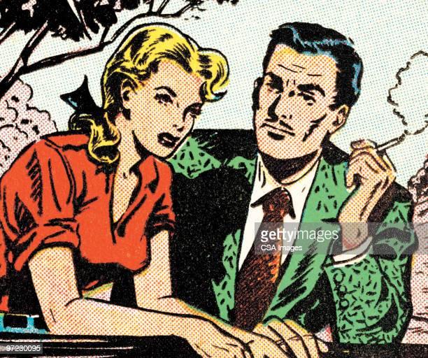 ilustraciones, imágenes clip art, dibujos animados e iconos de stock de blue-eyed man - hombre sensible