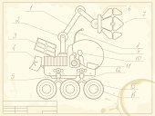 blueprint of planet rover