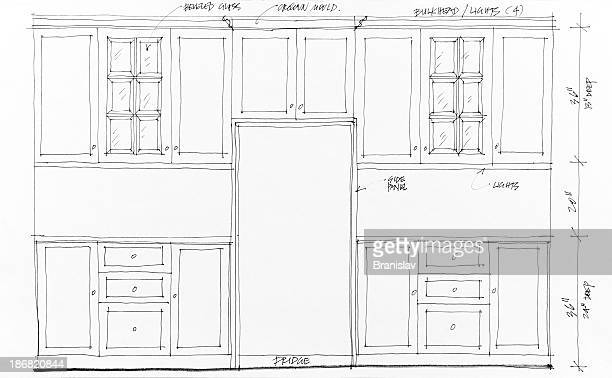 blueprints - cabinet stock illustrations, clip art, cartoons, & icons