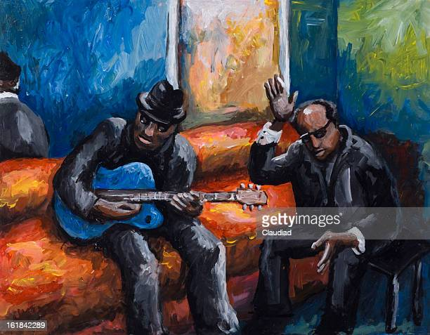blues - new orleans stock illustrations, clip art, cartoons, & icons