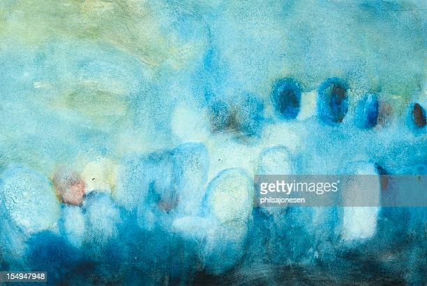blues painting - saturated colour stock illustrations