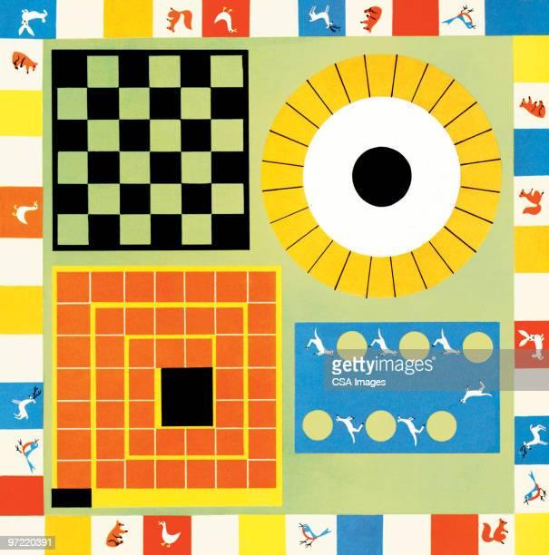 ilustraciones, imágenes clip art, dibujos animados e iconos de stock de board games - juego de mesa