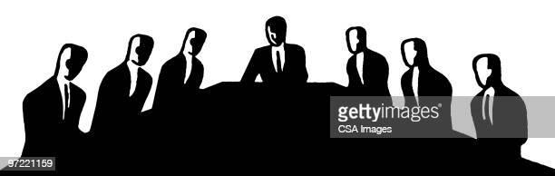 board meeting - meeting stock illustrations