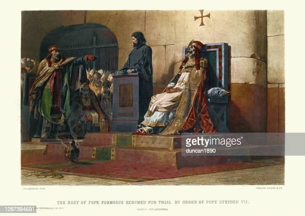 教皇フォルモサスの遺体は、スティーブン6世による裁判のために追放されました - crime or recreational drug or prison or legal trial点のイラスト素材/クリップアート素材/マンガ素材/アイコン素材