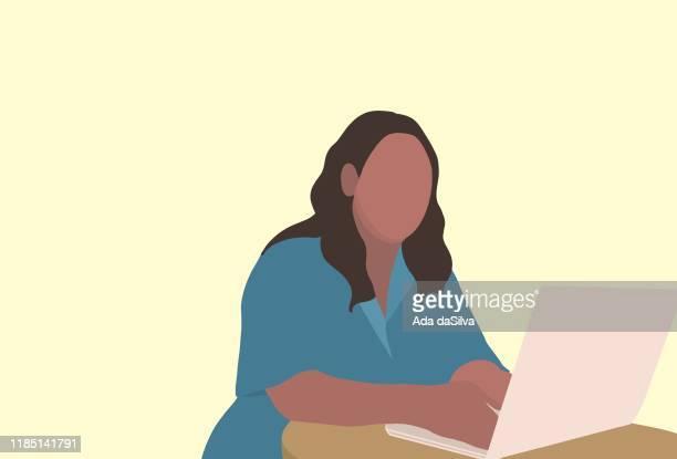 body positive illustrations - fat female cartoon characters stock illustrations